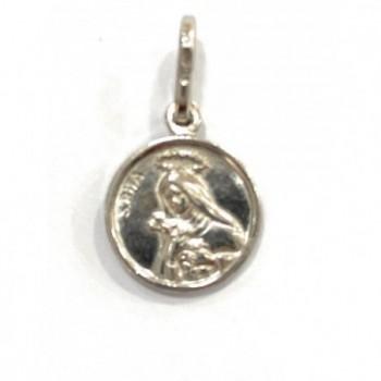 Medalla Santa Rita plata de ley