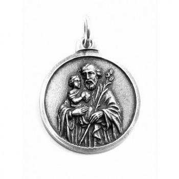 Medalla San José metal con baño de plata