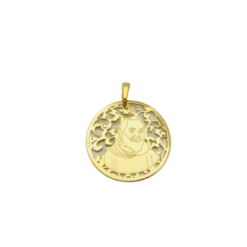 Medalla Padre Pío en plata...