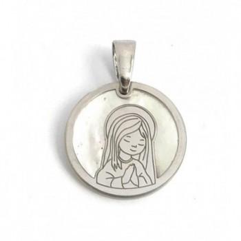 Medalla Virgen Niña plata...