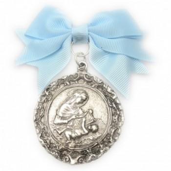 Medalla de cuna con baño de plata