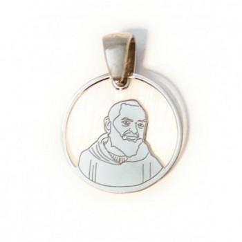 Medalla Padre Pío plata de...