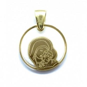 Medalla Virgen del Camino plata de ley y nácar®. 20mm