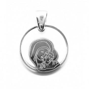 Medalla Virgen del Camino Neocatecumenal plata de ley y nácar®. 20mm