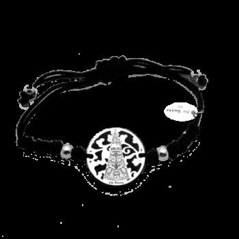 Pulsera Virgen de Loreto plata de ley y ónix®. 20mm